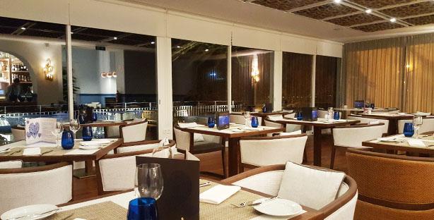 atlantico restaurante e bar sofisticado hotel intercontinental estoril peixe marisco vista mar sala