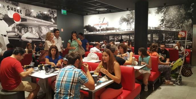 steak 'n shake hamburgueria dinner burgers milkshakes forum montijo