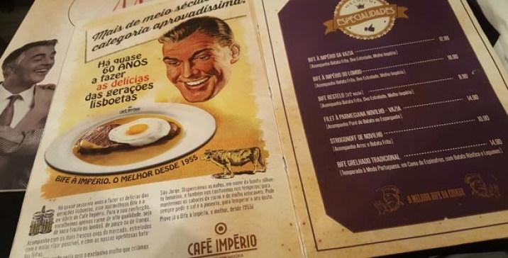 cafe imperio restelo bifes lisboa menu