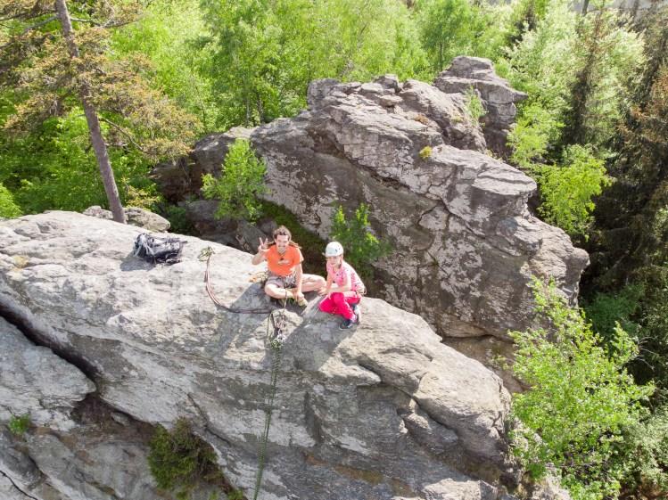 Foto z dronu - sporty horolezectví