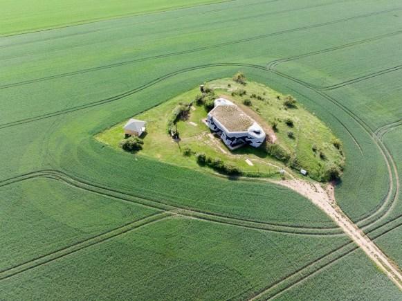 Foto z dronu - opevnění