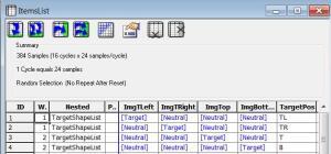 E-Prime list context attributes