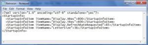 E-Prime startup info xml file