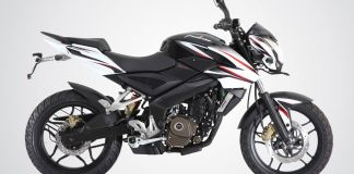 Pulsar 200NS in Crisp Black and White color