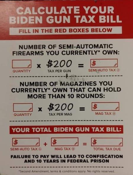 Calculate your Biden gun tax bill