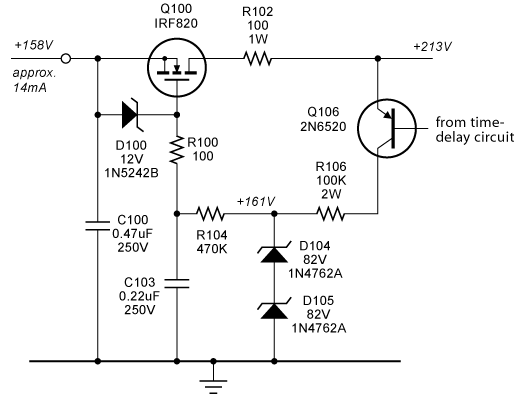 Series MOSFET regulator better with just voltage ref on