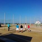 八幡工業(男子)と甲西高校(女子)合同練習