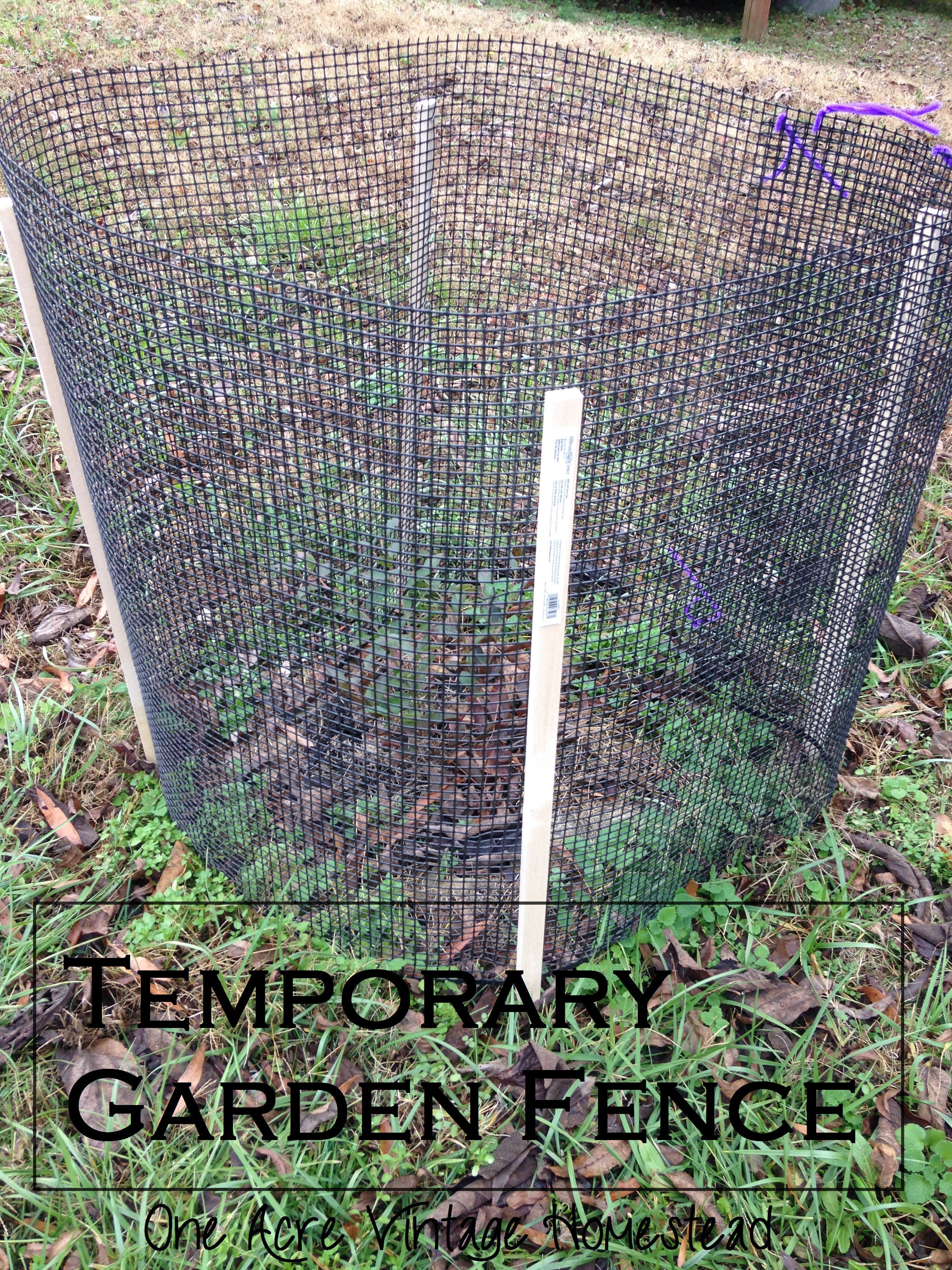 Build a temporary garden fence ⋆ one acre vintage