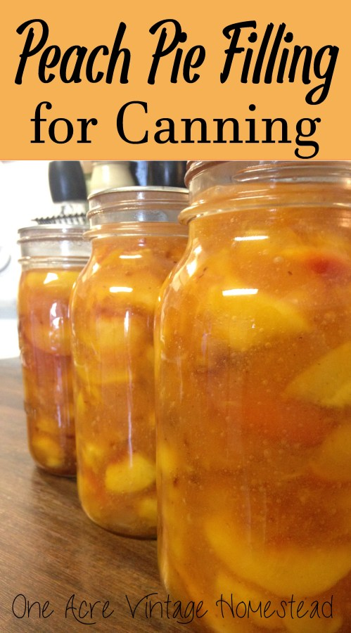Peach Pie Filling for Canning