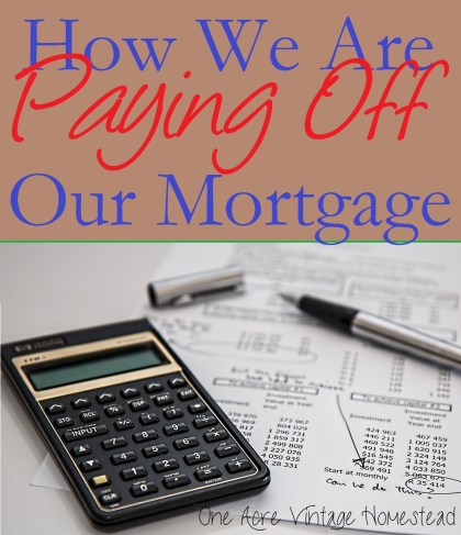 paying off mortgage