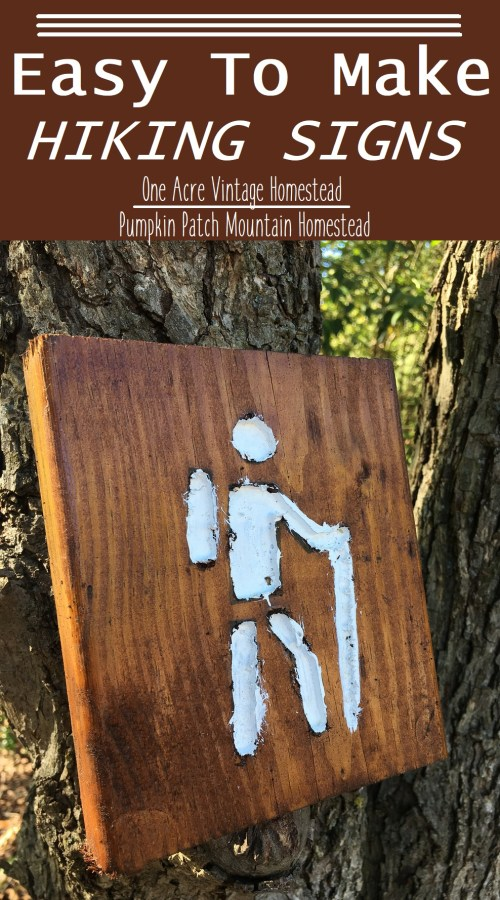 wooden hiking signs