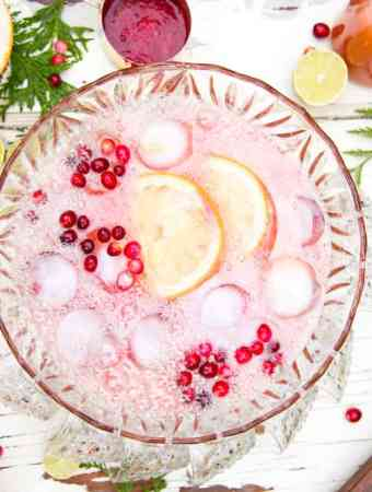Cranberry Citrus Paloma Punch
