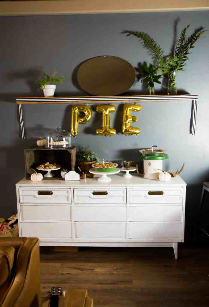 Fall Wine and Pie Party Thanksgiving wine and dessert table pie bar #TurkeyDayTips #CollectiveBias