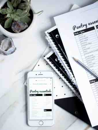 Pantry Essentials + FREE Printable Electronic Grocery List!