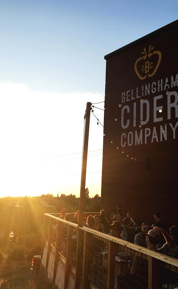 Bellingham Cider Company with a beautiful view and an amazing cocktail menu make this craft cidery a great choice when trying out new Bellingham restaurants. bellingham restaurants | restaurants in bellingham | bellingha, wa restaurant reviews | craft cider | cidery