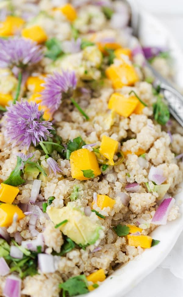 Mango Avocado Quinoa Salad | quinoa recipe | how to make quinoa salad | mango salad | quinoa salad dressing | easy vegan quinoa salad recipe