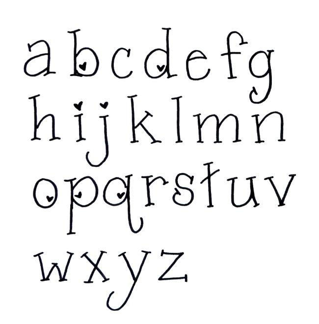 Valentine Hand Lettering Font Amy Latta Creations