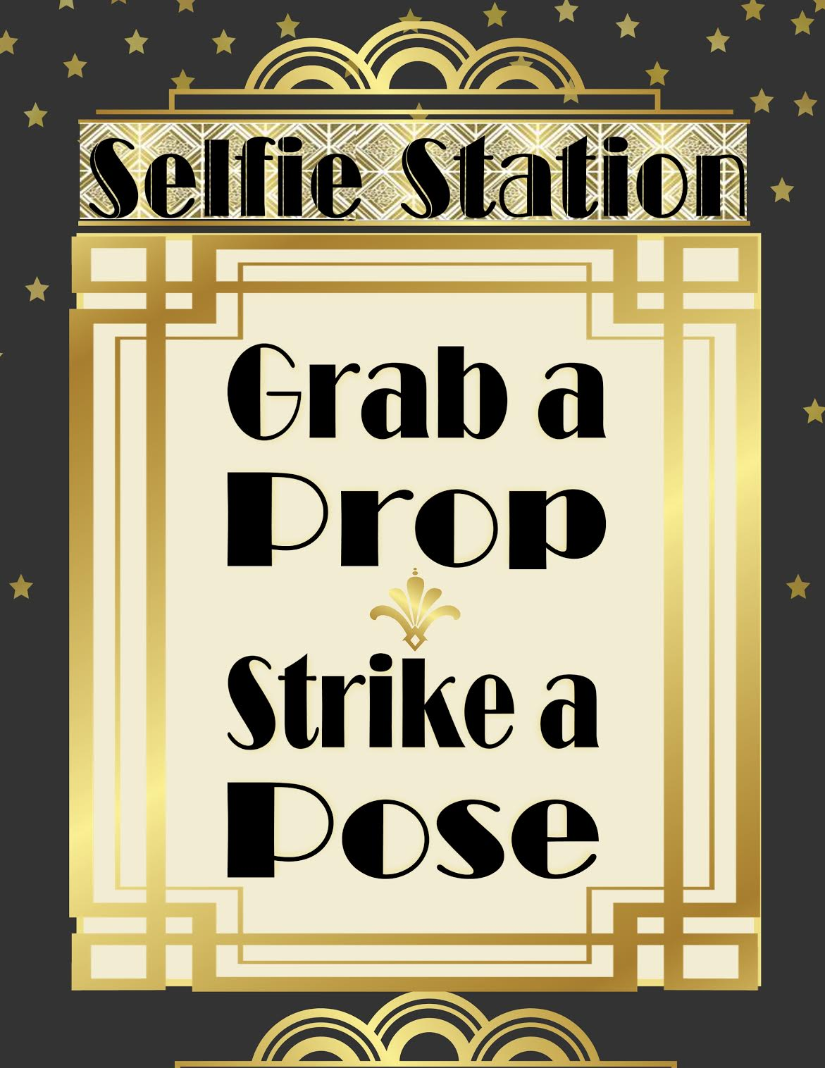 Puttin On The Ritz Roaring 20 S Photo Booth Printables