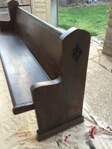 Gel Stained Church Pew