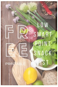 FREE SMART POINTS SNACK LIST