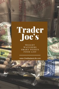 Trader joes weight watchers food list