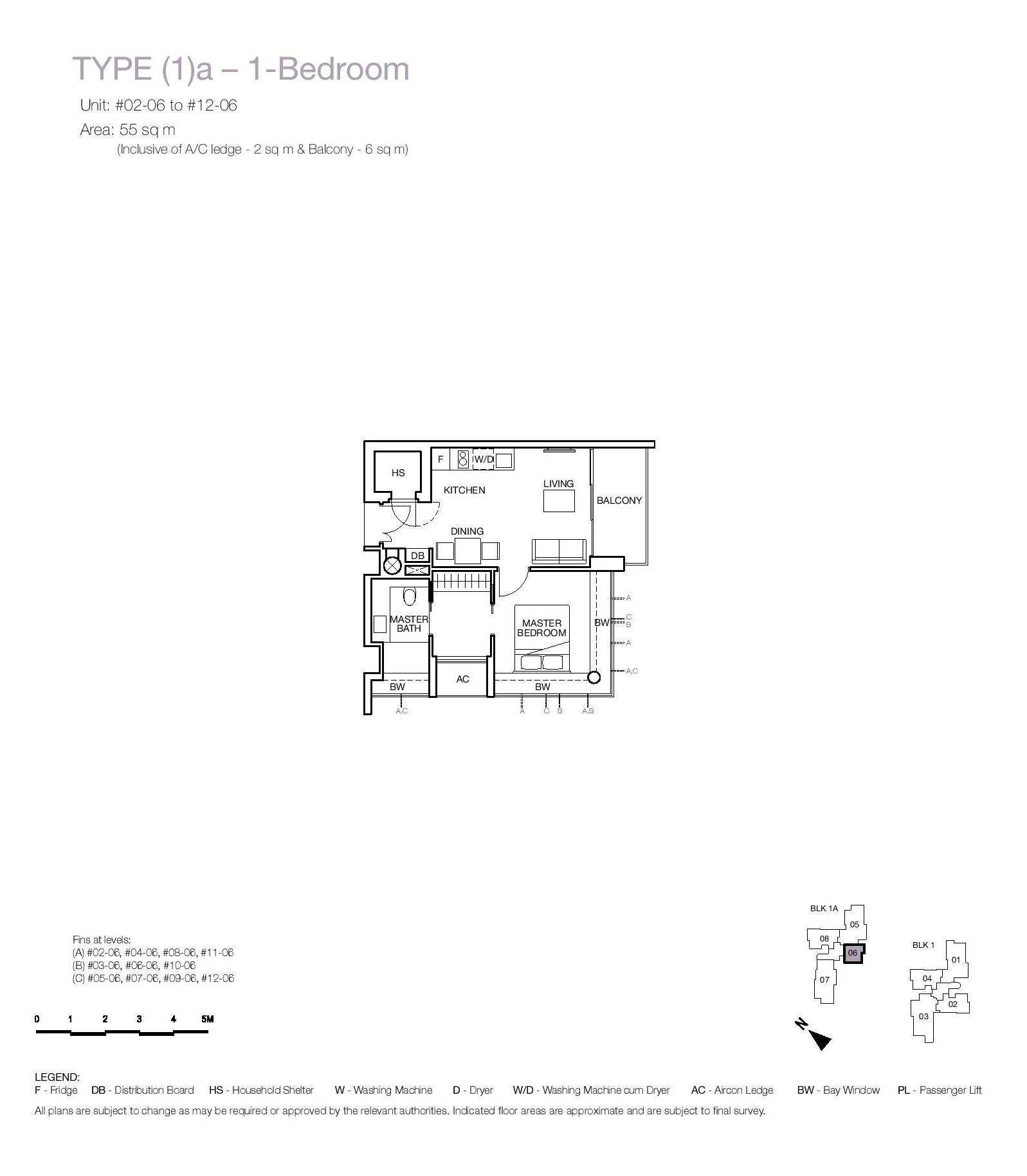One Balmoral 1 Bedroom Floor Type (1)a Plans