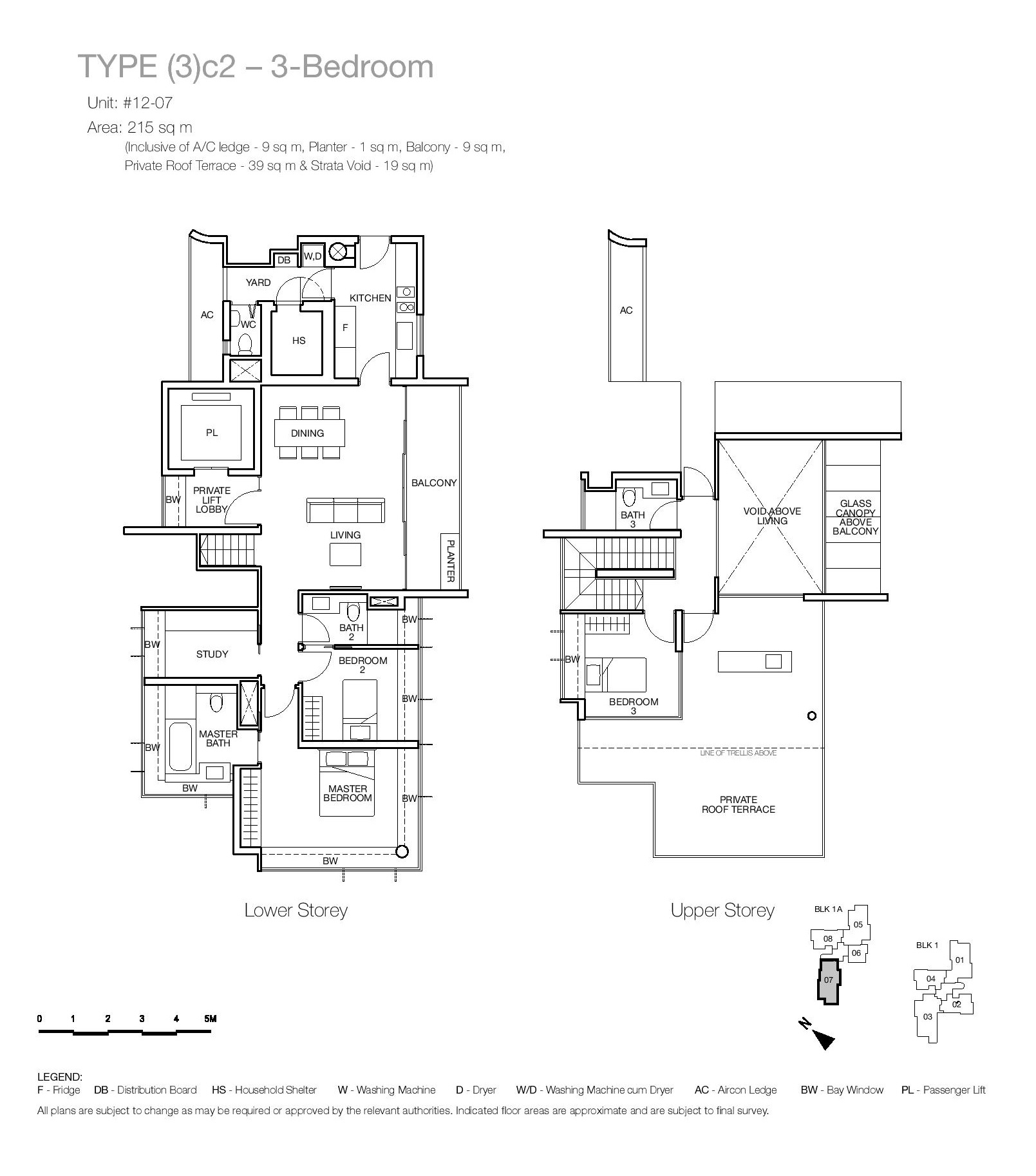 One Balmoral 3 Bedroom Floor Type (3)c2 Plans