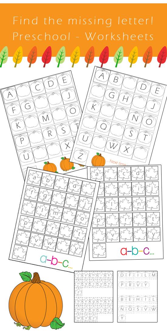 Preschool Alphabet Worksheets Find The Missing Letter