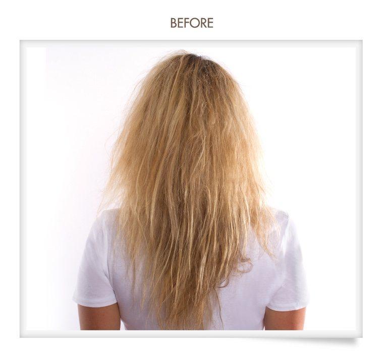 oneblowdrybar brazilian blowout before & after photo of their hair treatment