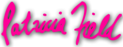 Patricia Field Name Spelled out with Pink lettering