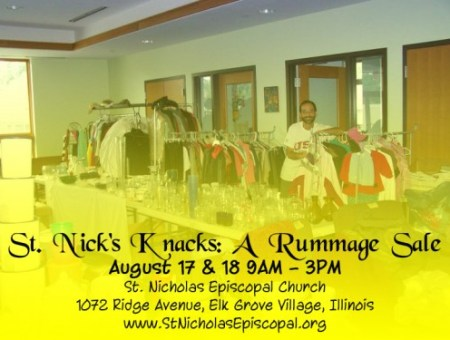 St Nick's Knacks Rummage Sale Aug 17 and 18