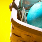 Blue Easter Egg in basket