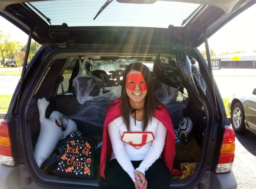 Junior Warden Jessica used her superpowers to make Trunk or Treat happen