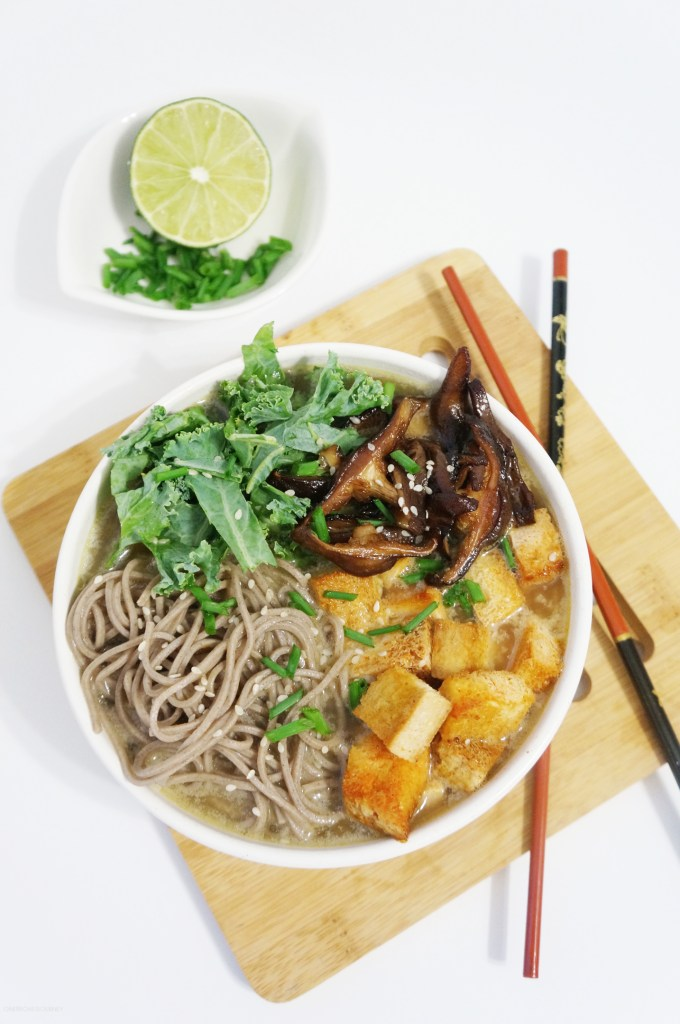 Soba Noodles with Spicy Tofu and Shiitake Mushrooms in ...