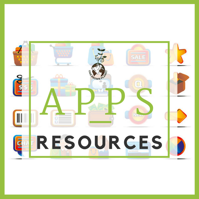apps, eco, one brown planet, sustainable living
