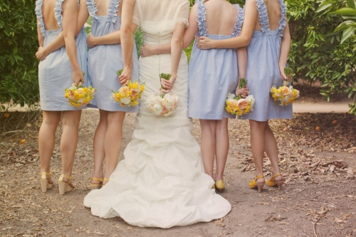 Wedding Colors: Light Blue and Yellow