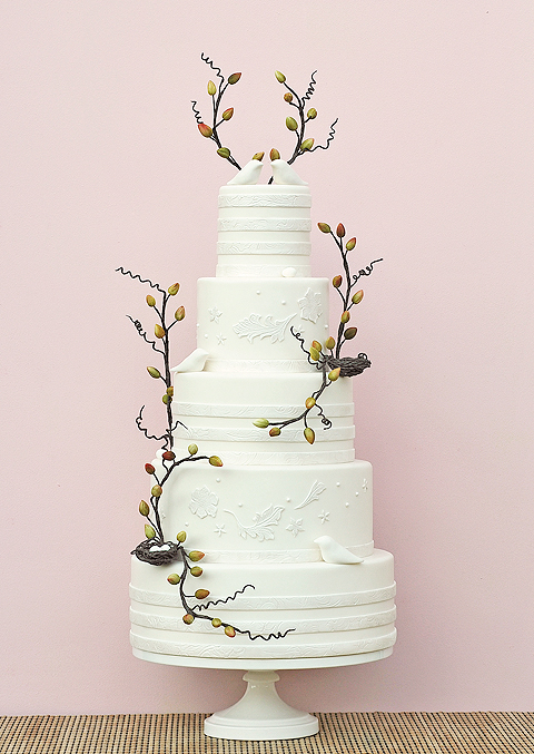 White Cake with Twigs