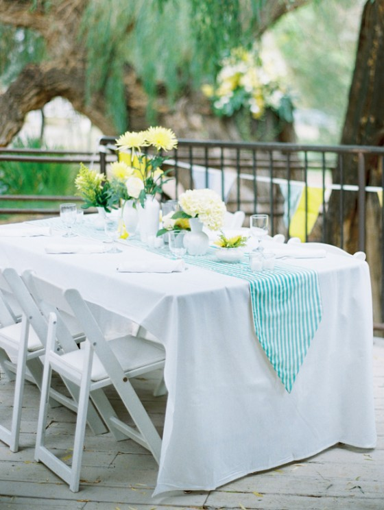 Blue and Yellow Vintage Wedding