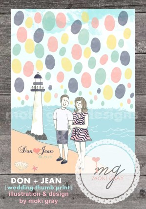 Thumbprint Guestbook by Moki Gray