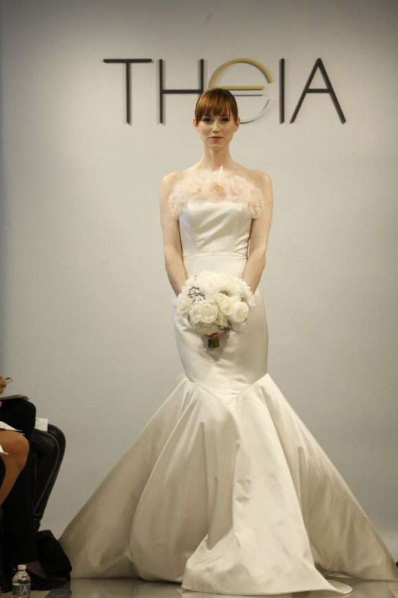 Theia White Wedding Gown Spring 2014