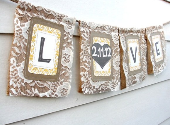 burlap-and-lace-wedding-banner