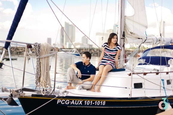 Nautical Theme Engagement Shoot
