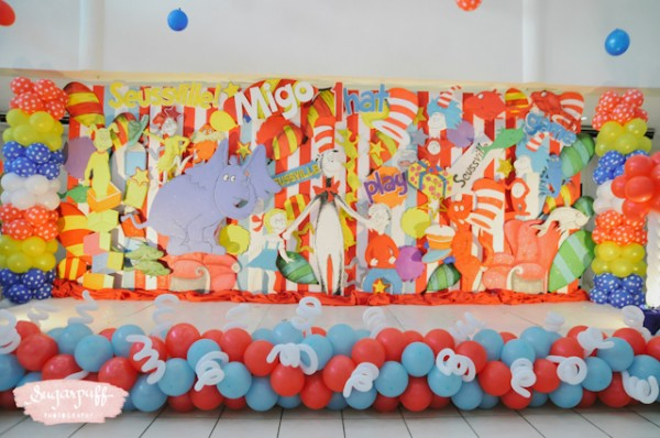 Migo's Dr. Seuss kids birthday party by Sugarpuff Photography - black and white edited