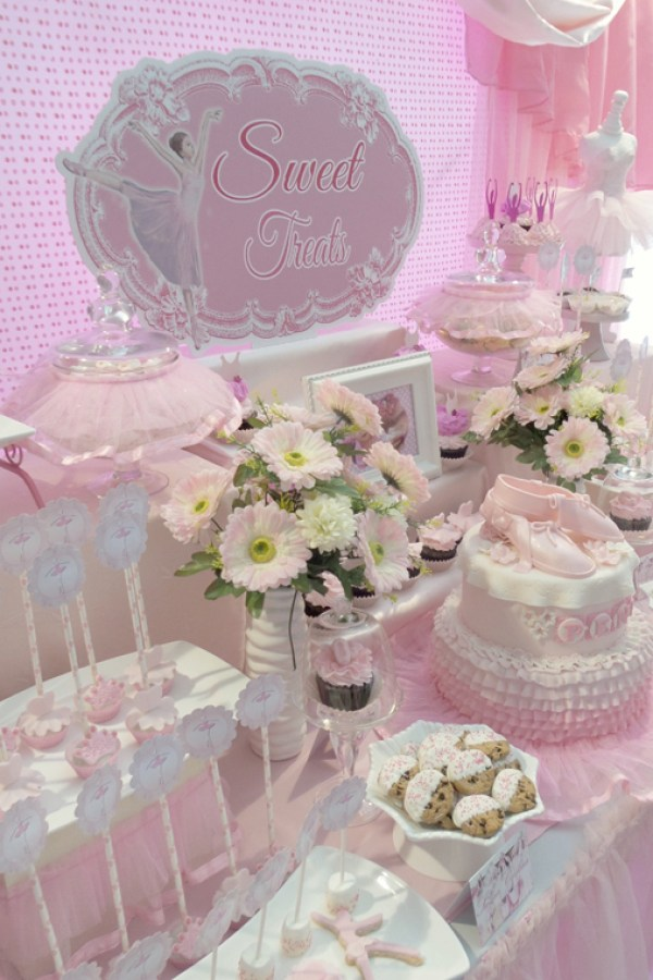Pink Ballerina Dessert Table
