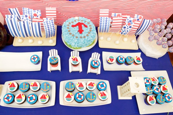 Nautical Themed Birthday Party - 15