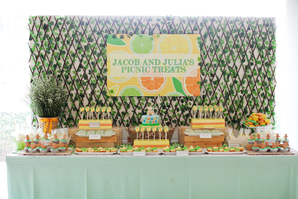 Picnic Themed Birthday Party Dessert Table