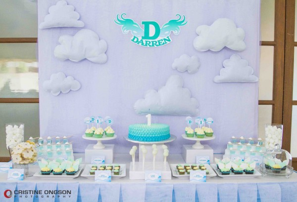 Heaven and Angel Themed Birthday Party - 37
