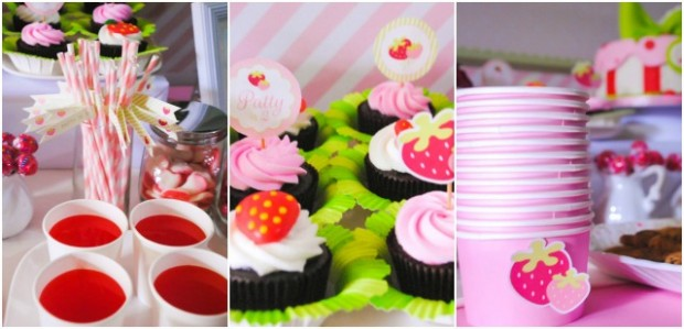 Strawberry Dessert Table Details