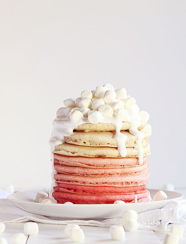 ombre pancakes