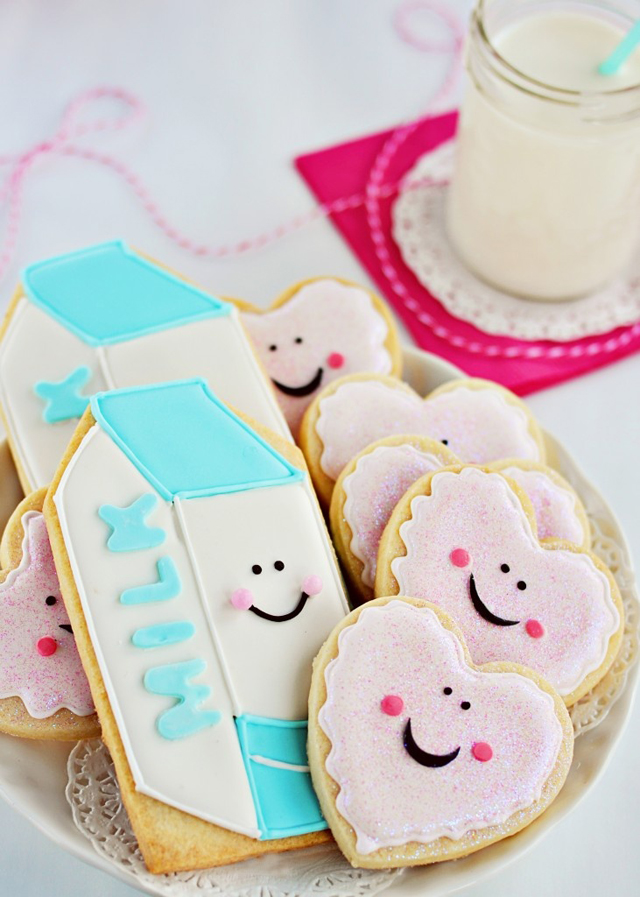Cute Milk and Cookies